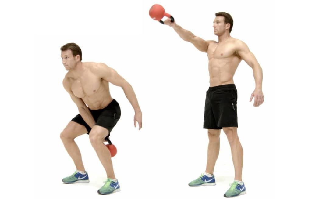 Swinging Kettlebells weight loss