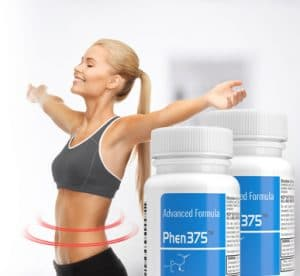 woman using phen375 for weight loss